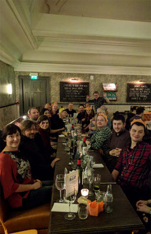 Allies Christmas Party 2018 at Jamie's Italian in Norwich