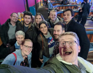 Allies team bowling night out