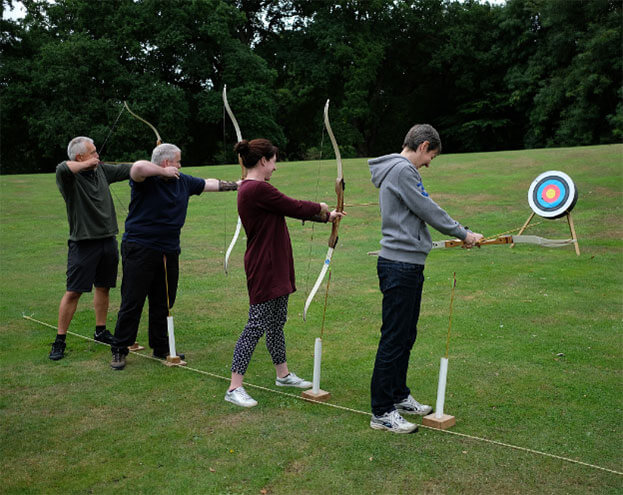 Celebrating 30 years of being in business with a round of Archery